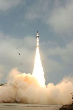 Agni V successfully test-fired  The 17-metre-long surface-to-surface ballistic missile lifted off majestically from a rail mobile launcher at 8.04 a.m. After a flight time of 20 minutes, the missile re-entry vehicle impacted the pre-designated target point more than 5,000 kms away in the Indian Ocean with a high degree of accuracy.