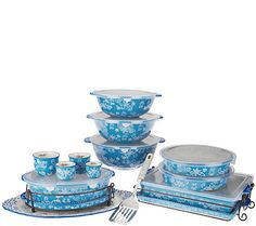Temp-tations Floral Lace 18-pc Bake and Serve Set