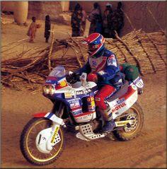 Patrick Toussaint, Honda Africa Twin RD03 XRV650, Dakar 1989.