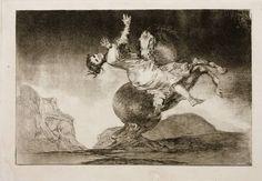 """Francisco de Goya, """"Caballo raptor"""", h. 1817-1819, aguafuerte y aguatinta, 245 x 356 mm,   Madrid, Museo Nacional del Prado"""
