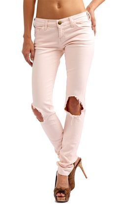 distressed skinny jeans...wear with a big shirt and flats. perfect!