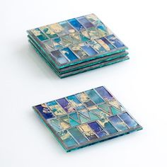 Your glass of wine (or morning coffee/tea) needs a stylish place to sit. Give it what it deserves with these charming mosaic coasters.  Find the Mosaic Coasters, as seen in the Kanthas Collection at http://dotandbo.com/collections/kanthas?utm_source=pinterest&utm_medium=organic&db_sku=92491