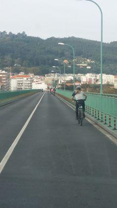 Entrando en VIana do Castelo Camino de Santiago portugués por la costa