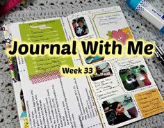 Journal With Me in My Traveler's Notebook  Week 33