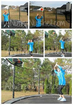 Via anutinanutshell.com #Alleyoop Proflex Basketball Set #JumpSport trampolines