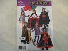 Simplicity Halloween Costume Pattern 0207 by KCDesignandBuild, $3.00