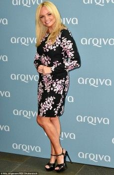 No Wannabe: Emma Bunton looked summery in a printed dress at the Arqiva Commercial Radio Awards in London on Wednesday night Las Vegas, Emma Bunton, Baby Spice, Natural Blondes, Latest Celebrity News, Dresses For Work, Summer Dresses, Spice Girls, Celebs