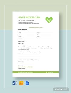 Doctors Note Template Free Doctors Note for Work Letterhead Template Word, Notes Template, Letter Templates, Dr Note For Work, Consent Letter, Doctors Note Template, Professional Letterhead, Medical Background, Branding Tools
