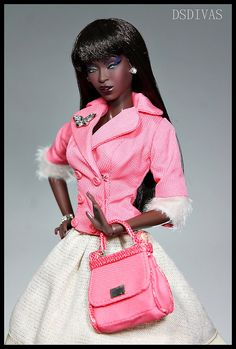 fashion doll, in pink
