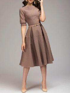 Womens Plain Dresses Ladies Backless Halter Neck Franki Keyhole Skater Dress