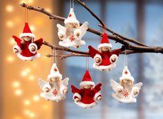 Precious Christmas Angels - holiday crafts