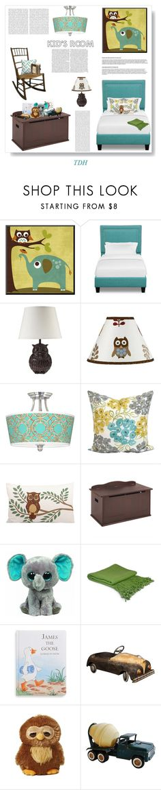 """""""Kid's Room"""" by talvadh ❤ liked on Polyvore featuring interior, interiors, interior design, home, home decor, interior decorating, J. Hunt, Sweet Jojo Designs, Giclee Gallery and ELK Lighting"""