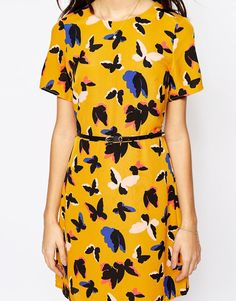 Image 3 ofOasis Pop Art Butterfly A Line Shift Dress