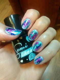 Semilac nails, lazure dream, folia transferowa