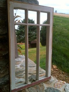 Window Frame Mirror by AsIsRepurposedItems on Etsy, $150.00