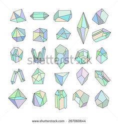 Find Set Crystals Geometric Shapestrendy Hipster Retro stock images in HD and millions of other royalty-free stock photos, illustrations and vectors in the Shutterstock collection. Bullet Journal Ideas Pages, Bullet Journal Inspiration, Illustration Cristal, Diamond Illustration, Art Tutorials, Drawing Tutorials, Crystal Drawing, Retro Background, Geometric Art