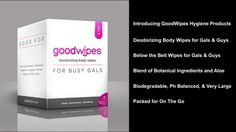 GoodWipes Body Wipes from MiBellaReina.com - the adult body wipe that is an on the go wet wipe. Perfect for after the gym, camping, on-the-go.