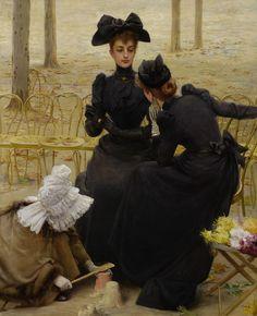 Vittorio Matteo Corcos - Conversation in the Jardin du Luxembourg, 1892