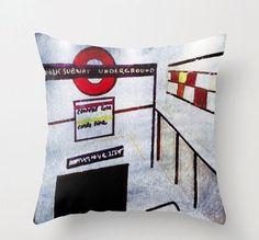 Notting Hill, Gate, London, Pillows, Etsy, Shopping, Portal, Cushions, Pillow Forms