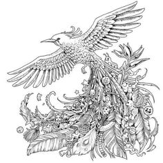 Animorphia Coloring Pages Free Artist Colouring Page Coloring Pages For Grown Ups, Bird Coloring Pages, Adult Coloring Book Pages, Doodle Coloring, Printable Coloring Pages, Coloring Books, Hummingbird Colors, Art Doodle, Valentines Day Coloring Page
