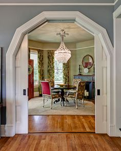 *swoon* Look at that arch and the pocket doors!
