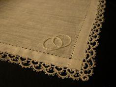 Irish linen wedding hankerchief