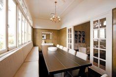 Brisbane art deco dining room by Gary Hamer Interior Design. Photo www.blixphotography.com