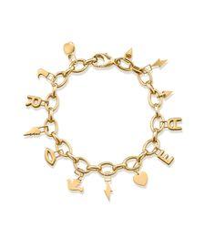EVOKE: EAR WISH BRACELET  Ear Wish link bracelet in 9ct yellow gold