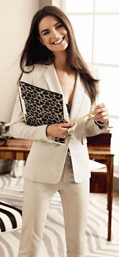 Every woman should have a nice fitted suit -- whether you work in the corporate world or not. #fashionmusthave | Professional Style Guide @ Levo