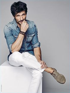 Leading model Andres Velencoso sports denim essentials for Xti's spring-summer 2017 campaign.