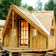 Our prefab pond house design entices onlookers and is the perfect size for an endless array of uses. Order this cabin kit from Jamaica Cottage Shop online today! Tiny House Kits, Best Tiny House, Cute House, Tiny House Plans, Tiny House On Wheels, Tiny Houses, Pallet Shed Plans, Storage Shed Plans, Cabin Plans