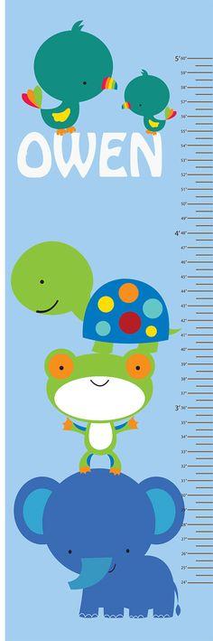 Childrens crecimiento gráfico reutilizables pared por StudioWallArt, $48.00