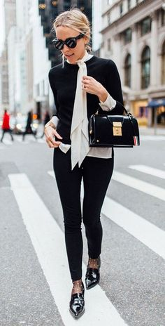 Fall Work Outfit To Try Right Now maybe not top but socks!
