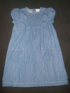 Hanna Andersson Blue Denim Tunic Dress Girls Size 150 Hanna Andersson  #HannaAndersson