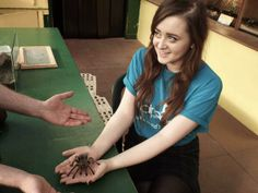 Hold a tarantula in aid of Childreach International! Scary! but amazing!