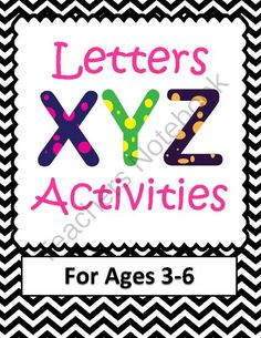 Letter X, Y, and Z Activities- 63 Pages! Common Core from Your Teachers Aide on TeachersNotebook.com (63 pages)  - Letters X, Y, and Z Activities- wow- there's a lot here I could use for my classroom!