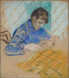Jean-Baptiste-Armand Guillaumin, Woman Sewing, 1884, Harvard Art Museums/Fogg Museum.