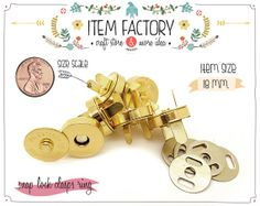 10Sets 18mm 3/4inch Magnetic Purse Snaps  Magnetic by ITEMFACTORY, $3.79