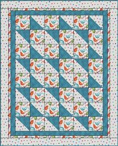 Boxes & Bows Downloadable Quilt 3-yard quilt pattern