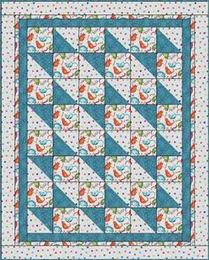 Boxes & Bows Downloadable Quilt 3-yard quilt pattern