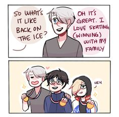 concept for s2: victor and his fiance (plus yurio) end up winning everything that they become the 'podium family' lmao (based on @witharthurkirkland's ask)
