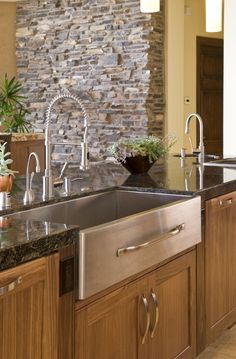 Make it a double sink and it's mine! Love the handle on the front...perfect for a towel.