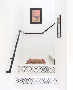 Add some pattern to your staircase   Image via MyDomaine