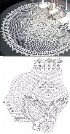 39 Best Ideas For Crochet Doilies Oval Filet Crochet, Crochet Doily Diagram, Crochet Doily Patterns, Crochet Round, Crochet Chart, Thread Crochet, Crochet Motif, Crochet Lace, Crochet Stitches