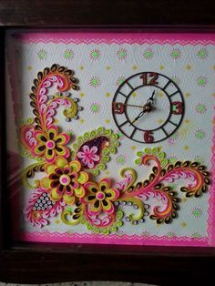 Pink & Brown quilling