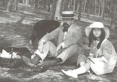 Claude Debussy with his daughter