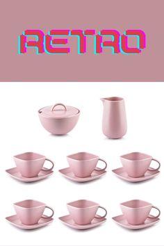 Zaproś koleżanki na pyszną kawę w różowych fliżankach. Skompletuj zestaw z różowym porcelanowym dzbankiem i kubkami.