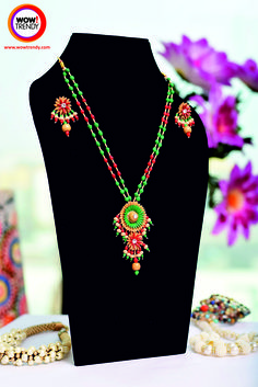 #Neckpieces #Necklace #jewellery #fashionaccessory #womenjewellery #wowtrendy #handicrafts #Indianjewellery #handcraftedJewellery   Use of paddy is symbolic of Prosperity and general well- being  Wear this beautifully designed handcrafted Paddy Necklace Set.  http://www.wowtrendy.in/jewellery/necklaces.html