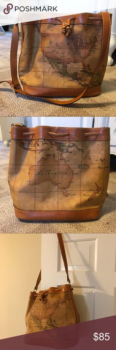 Alviero Martini 1A Classe Geo Print Tote The Geo Bag is such a fun bag! Used but in good condition. Price negotiable! 😀 Alviero Martini Bags Totes