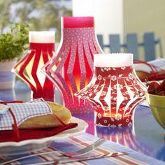 Fürs Grillfest: Transparentpapier-Windlichter